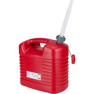 Rezervoar za gorivo 20L, PE s prilagodljivim izlivom [21 137]