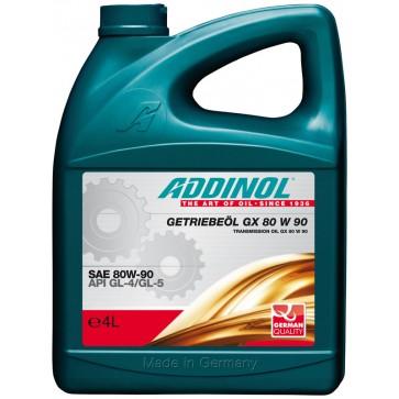 ADDINOL TRANSMISSION OIL GX 80 W 90, 4L - Olje za menjalnike in diferenciale