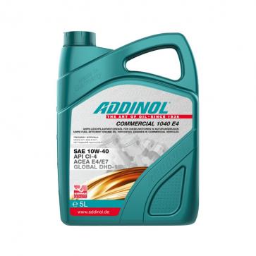 ADDINOL COMMERCIAL 1040 E4, 5L - Motorno olje za tovorna vozila