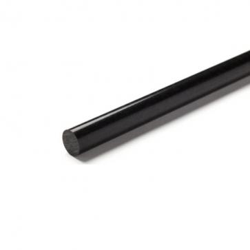 POM C, fi 65x1000mm, črna - POM plastika, palica