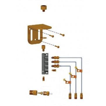 Set, priključni za 3-točkovno mazanje 1250RO-3 - Za tip OL500