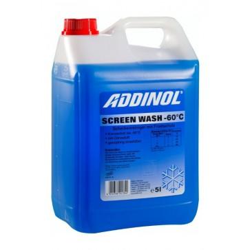 ADDINOL SCREEN WASH (-60°C), 5L - Zimsko čistilo za vetrobransko steklo, koncentrat