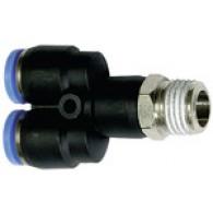 Priključek Y »modra serija«, vrtljivo, R 1/2 zunaj, Φ 12 mm [134.012-12]