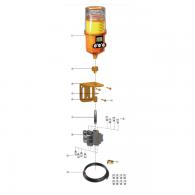 Set, priključni za 8-točkovno mazanje 1250MD-8S - Za tip M