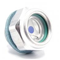 Oljekaz Alu-250 ° C-10 bar, G 1/4 '' - SK 17 mm - Glas [75 038 500] - -10 / +250°C