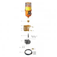 Set, priključni za 6-točkovno mazanje 1250MD-6S - Za tip M