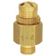 Ventil odzračevalni mini, medenina, G 1/8, nastavljen tlak 3,0 - 7,0 bar [218.12]