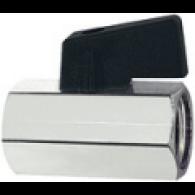 Ventil krogelni mini, gladka površina, MS, G 1/2 IG, DN 10 [375.03]