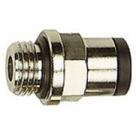 Priključek ravni vtični »click-clock«, G3/8'' zunanji, za cev fi 8mm, max. 16bar, nikljana medenina [745.038-8]