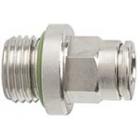Priključek ravni vtični »metallica«, G1/8'' zunanji, za cev fi 4mm, max. 16bar, nikljana medenina [845.018-4]