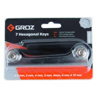 Garnitura ključev inbus v sklopljivem držalu, 2,5-10,0mm, 7 kos, Cr-V - 36120 [ALN/HX-HX/7/GRZ]