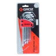 Komplet ključev TX, T10-T50, 9 kos, S2 steel- 36102 [ALN/TX-TX/9L/GRZ]