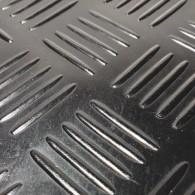 GT avtotekač checker 3mm x 1500mm x 10m, črna - Profilirana tehnična guma