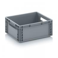 Skladiščni zaboj, 400x300x170, siv - zaprt EG 43/17