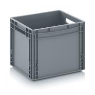 Skladiščni zaboj, 400x300x320, siv - zaprt EG 43/32