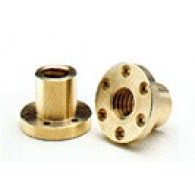 Matica TR 24x5 desni navoj, tip FFR, bron - CuSn5Zn5Pb5-C - Trapezna matica s prirobnico