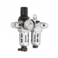 Skupina pripravna G1/4, filter in naoljevalec zraka, 500L/min, BSP - 60405 [FRCLM136134-S/G] - 500 L/MIN