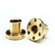 Matica TR 12x3 desni navoj, bron, tip FXN - Okrogla trapezna matica s prirobnico CuSn12-C