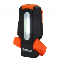 Ročna svetilka, akumulatorska 2W COB, 200 LM, prepogibna z magnetom in vrtljivim obešalom - 55049 [LED/150]