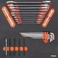 Komplet orodja v vložku, veli kost B, 27 kos, tip 14B - 62514 [KIT/MOD/14B]