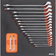 Garnitura orodja v vložku, veli kost B, 19 kos, tip 16B - 62516 [KIT/MOD/16B]