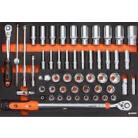 Garnitura orodja v vložku, veli kost A, 106 kos, tip 37A - 62537 [KIT/MOD/37A]