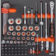 Garnitura orodja v vložku, veli kost B, 83 kos, tip 38B - 62538 [KIT/MOD/38B]