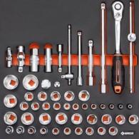 Komplet orodja v vložku, veli kost B, 52 kos, tip 39B - 62539 [KIT/MOD/39B]
