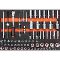 Komplet orodja v vložku, veli kost A, 71 kos, tip 41A - 62541 [KIT/MOD/41A]