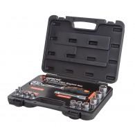 Komplet nasadnih ključev 1/2'' v kovčku, 13 kos - 40394 [KIT/SKT/H/1-2/13UG]