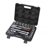 Garnitura nasadnih ključev 1/2'' v kovčku, 27 kos - 40390 [KIT/SKT/H1-2/27/UG]