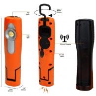 Ročna svetilka, akumulatorska 180° 10W COB + 2W SMD, 1000 LM, z magnetnim držalom in obešalom + wireless polnilec - 55085 [LED/375]