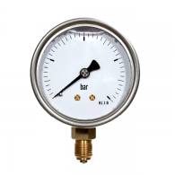 "Manometer 63, 0-4 bar, glicerin, RP, G1/4"", kl.1.6, inox [705-C] - Standardni manometer"