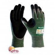 Rokavica MaxiCut Oil 34-304, velikost 10 - Nylon/NBR rokavica zelene/črne barve