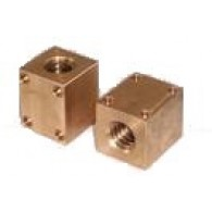 Matica TR 25x5 desni navoj, bron, tip QBF - Kvadratna trapezna matica CuSn12-C