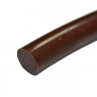 RL fi 6,3mm - Okrogli jermenski profil PU, rjavi FDA, 80ShA