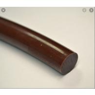 RL fi 5,0mm - Okrogli jermenski profil PU, rjav FDA, 76ShA