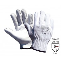 Rokavice 4WORK 405, velikost 11, bele - Delovne rokavice, usnje