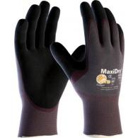 Rokavice MaxiDry 56-425, velikost 10, vijola/črne - Delovne rokavice, Nylon/NBR