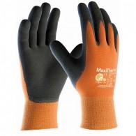 Rokavice MaxiTherm 30-201, velikost 10, oranžne/črne - Delovne rokavice, Nylon/NBR