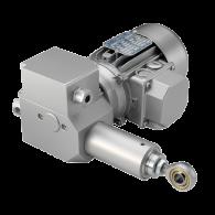 AKTUATOR ECO 2T 2FC C300 V3 F4 cod.11965 0,09kW 220-380V/50HZ - 230V AC, Hod 300mm, 4.500N, Vgradna dolžina 525mm, Končna stikala, Potenciometer, IP54, Aluminij