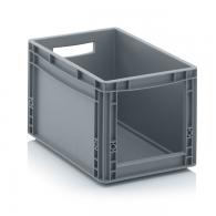 Skladiščni zaboj, 400x300x270, siv - odprt SLK 43/27