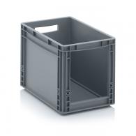 Skladiščni zaboj, 400x300x320, siv - odprt SLK 43/32