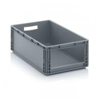 Skladiščni zaboj, 600x400x220, siv - odprt SLK 64/22