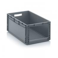 Skladiščni zaboj, 600x400x270, siv - odprt SLK 64/27