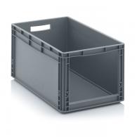Skladiščni zaboj, 600x400x320, siv - odprt SLK 64/32