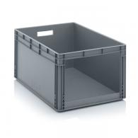 Skladiščni zaboj, 800x600x420,siv - odprt SLK 86/42