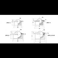 SPM 15 B - Skodelični ležaj
