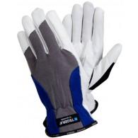 Rokavice TEGERA 888, velikost 10, bele/sive/črne - Delovne rokavice, usnje/bombaž