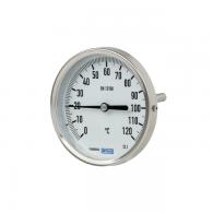 Termometer bimetalni, priklop zadaj, G1/2'', dolžina potopne gredi 63mm, 0 do 160°C [5203]